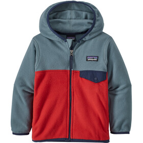 Patagonia Micro D Snap-T Jas Kinderen grijs/rood